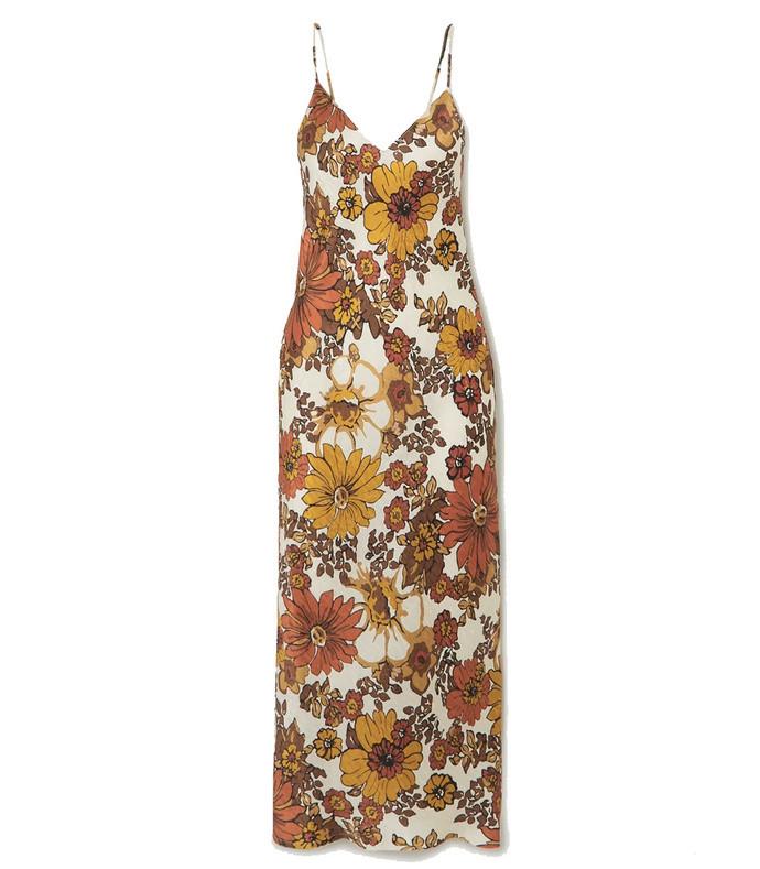 corinna floral-print silk-jacquard midi dress