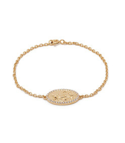 st christopher gold-plated bracelet
