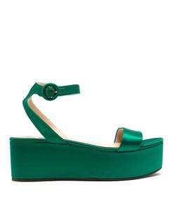 platform satin sandals