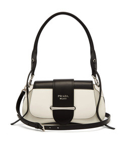 sidonie leather shoulder bag