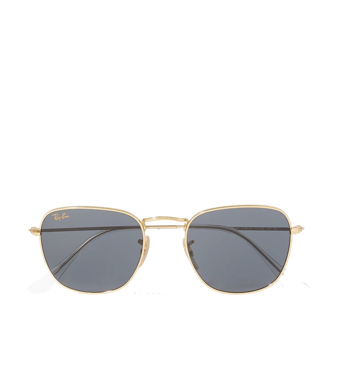 frank legend square-frame gold-tone sunglasses