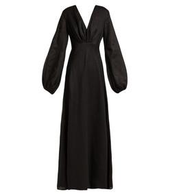 utopian linen maxi dress