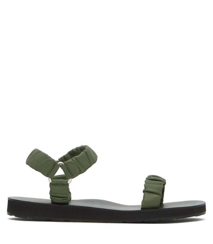 83f2be7b2 The Row. Egon Ruched Leather Sandals