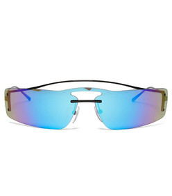 iridescent rectanglular sunglasses