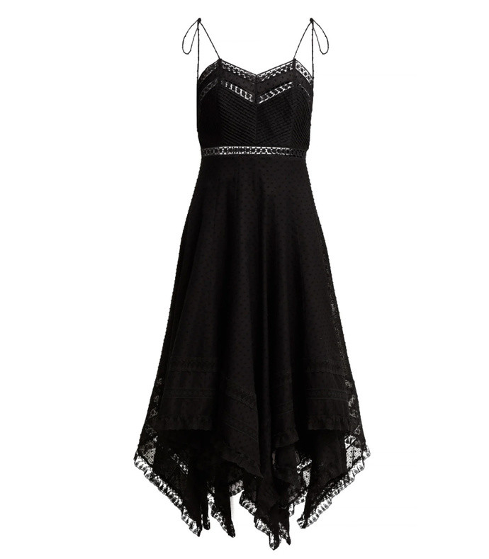 juno cotton and lace scarf dress
