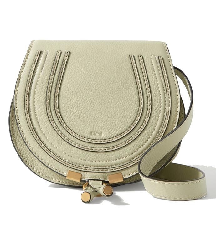 marcie mini textured-leather shoulder bag