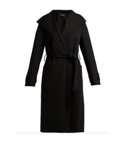lista tie-waist wool-blend coat