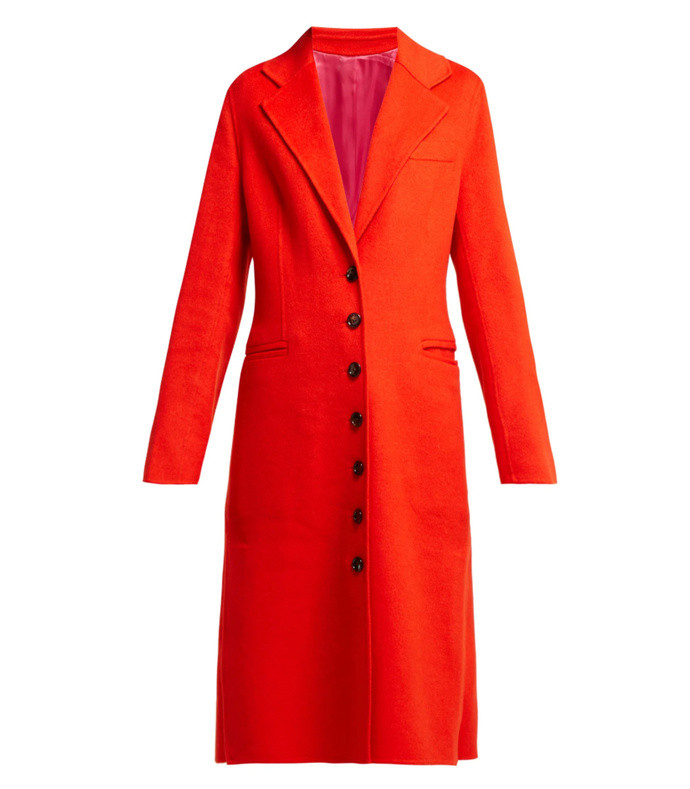 new marline single-breasted wool-blend coat