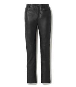 net sustain phoenix leather straight-leg pants