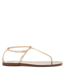 rockstud  slim strap leather sandals