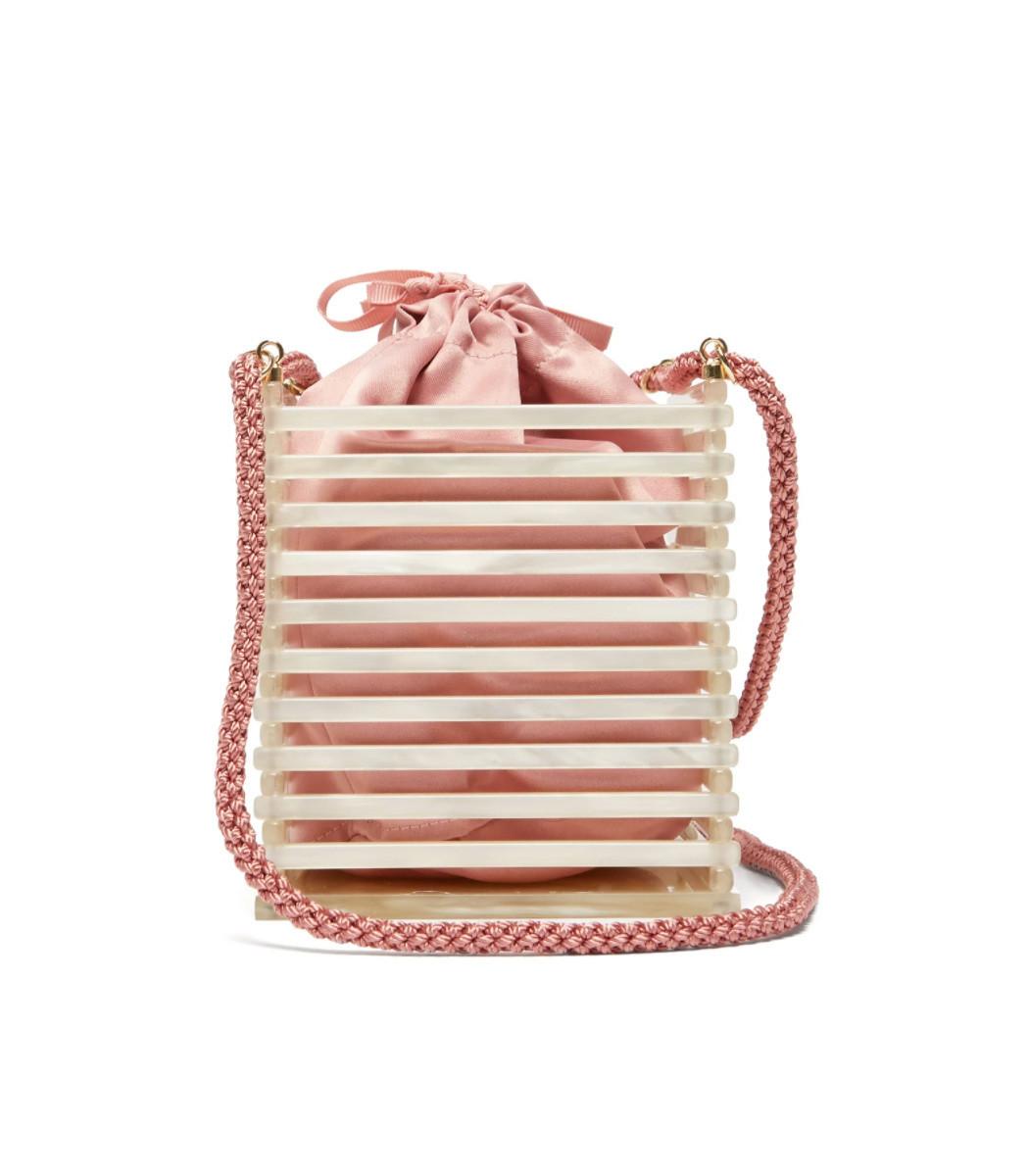 381da00548 Montunas Vanda Pearlescent Acetate box Bag - ShopBAZAAR