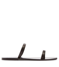 lola double strap leather sandals