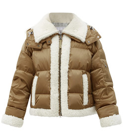 suza quilted down ski jacket