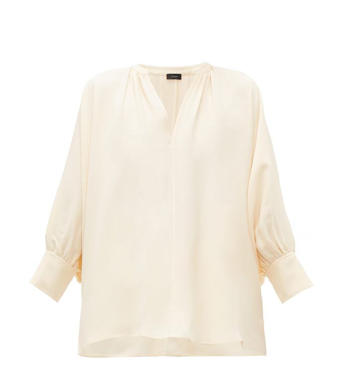 alma silk blouse