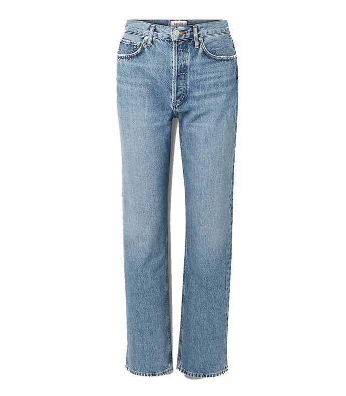 90s high-rise straight-leg jeans