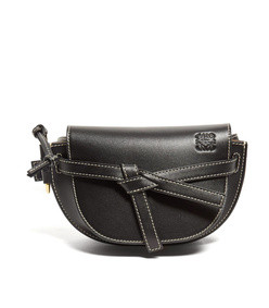 gate small woven-leather belt bag