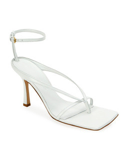 squared leather sandals