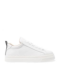 lauren scalloped leather sneakers