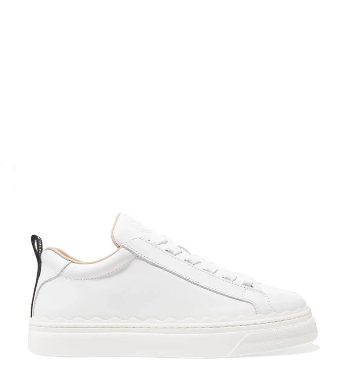 lauren scalloped leather sneakers