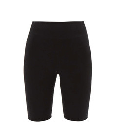 high-rise technical jersey cycling shorts
