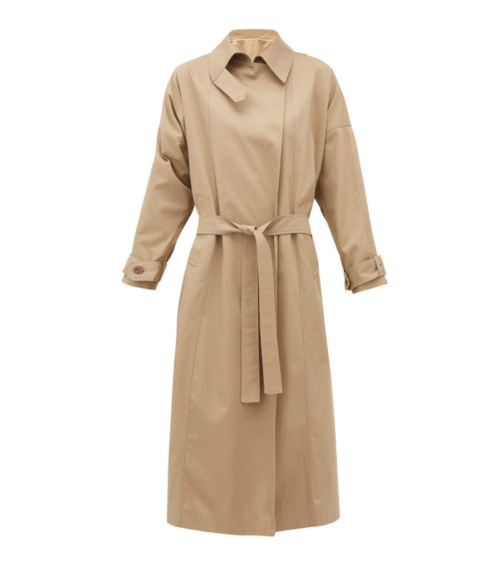 savannah twill trench coat