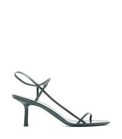 bare mid-heel leather sandals