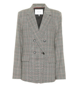 boyfriend cotton and linen blazer