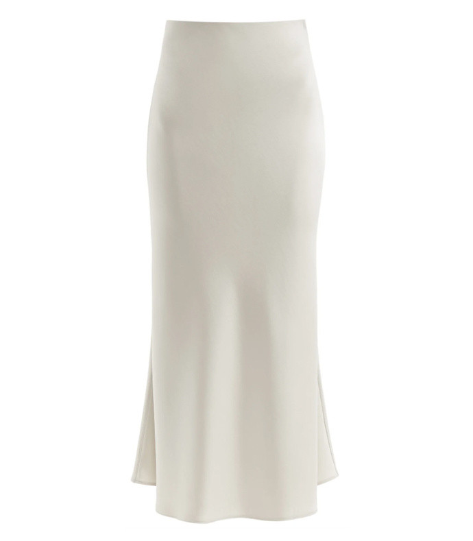 valetta satin midi skirt