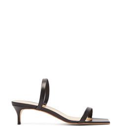 thalia square-toe leather sandals