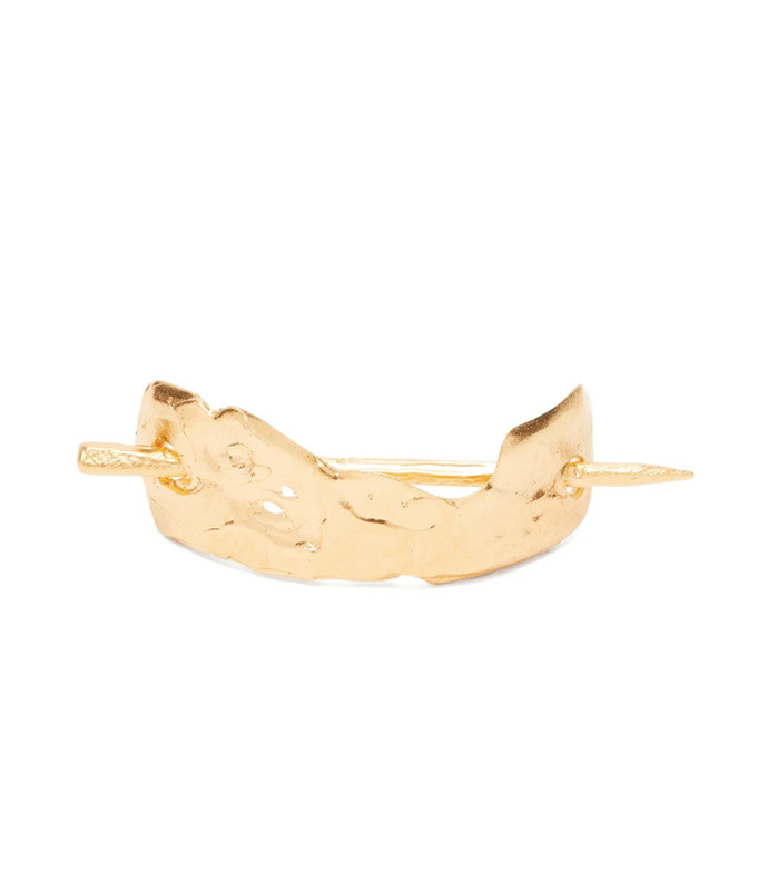 moonlight dance gold-plated hair pin