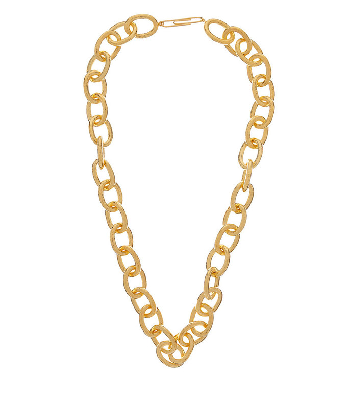 manon gold-plated chain necklace