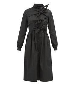 hester bow-embellished taffeta coat dress