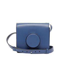 camera cross-body leather bag