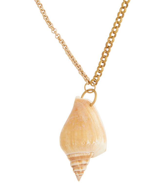 upcycled shell pendant necklace