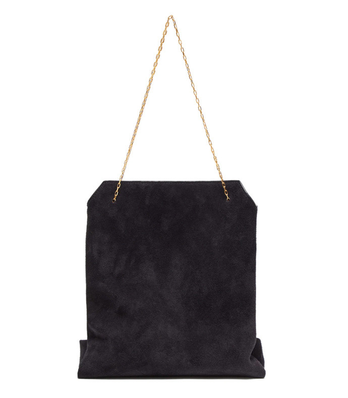lunch bag small suede clutch