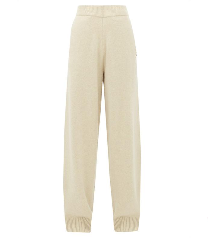 no.118 zubon stretch-cashmere wide-leg trousers