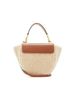 hortensia mini shearling bag
