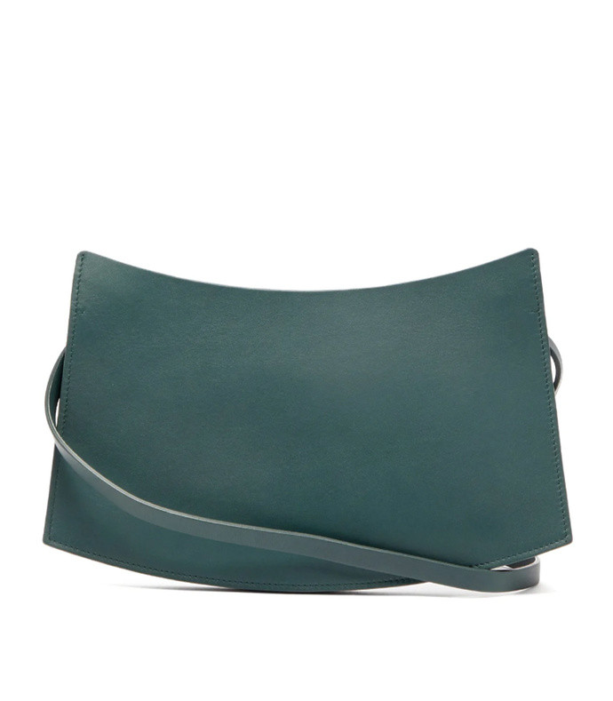 accordion leather clutch bag