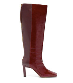 sa two tone square toe leather boot
