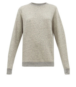 raglan-sleeve cotton-blend sweatshirt
