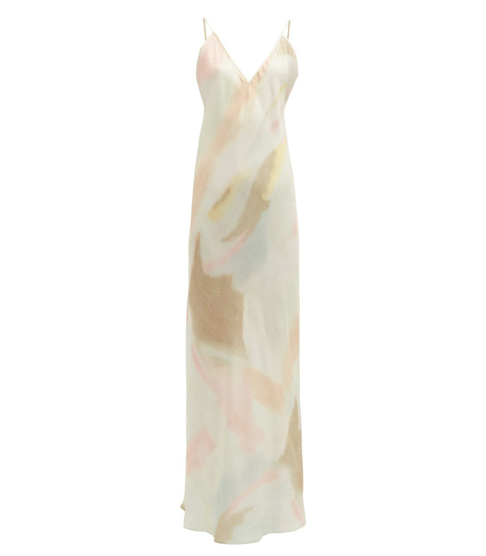 liberty pastel tie-dye slip dress