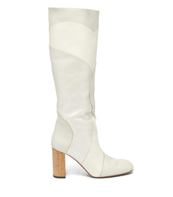 tina knee-high patchwork-leather boots