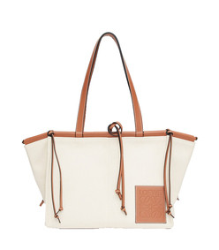 cushion large canvas and leather tote bag