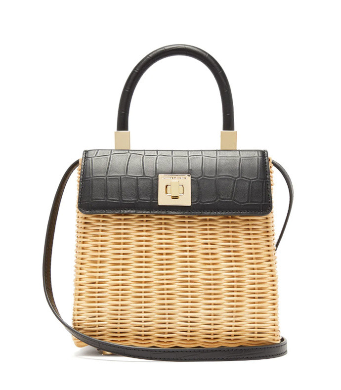 the classic wicker and leather top-handle bag