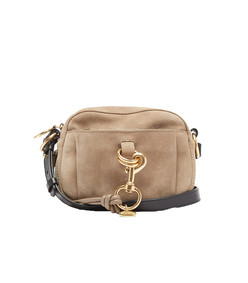 tony grained-leather and suede camera bag