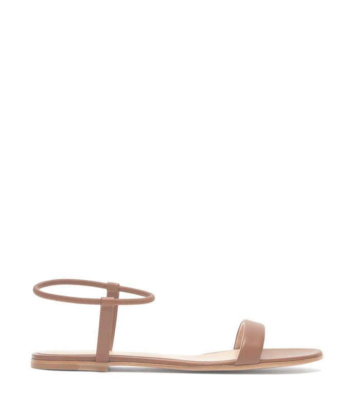 jaime leather flat sandals