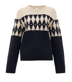 romme diamond-jaquard cashmere sweater