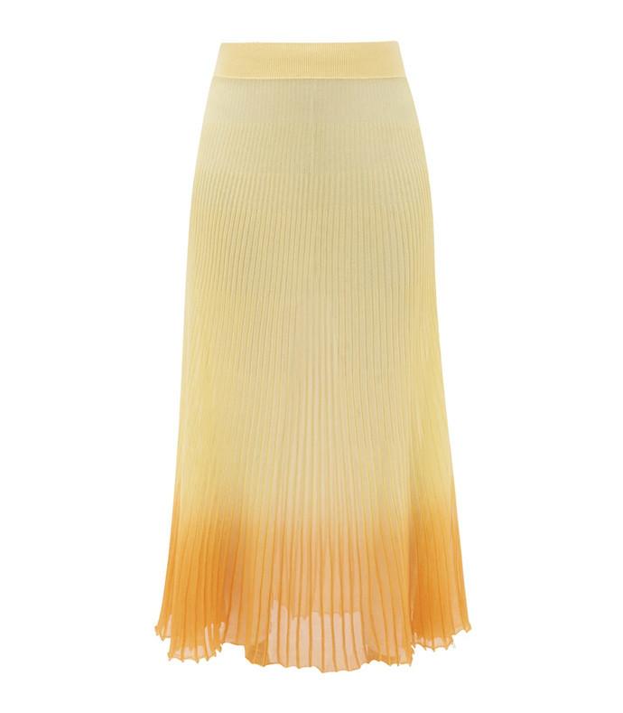helado gradient rib-knitted midi skirt
