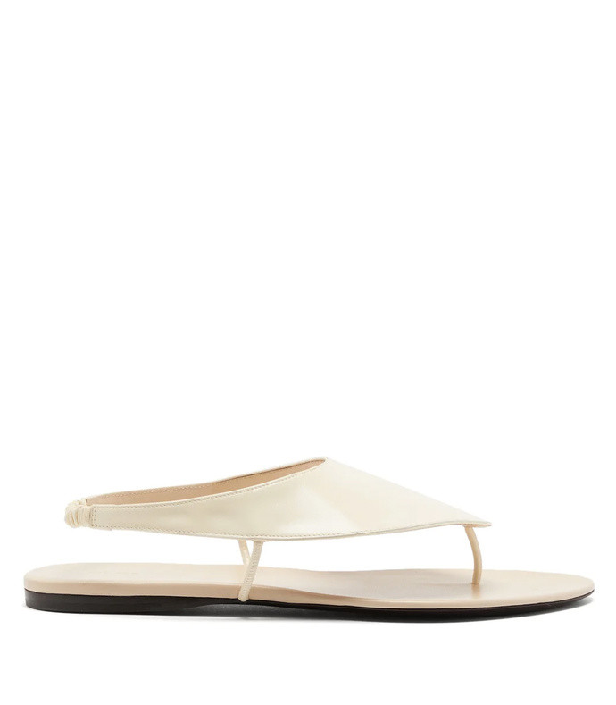 ravello leather flat sandals
