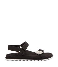 trekky viv' crystal-buckle sandals